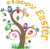 Happy Easter tree Royalty Free Stock Photo