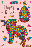 Happy Easter tribal card Stock Photos
