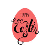 Happy Easter typographic background. Calligraphic inscription: Happy Easter. Stock Photo