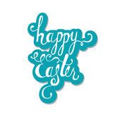 Happy Easter typographic background. Calligraphic inscription: Happy Easter. Royalty Free Stock Photos