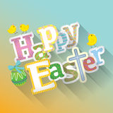 Happy Easter typographic background Royalty Free Stock Photo