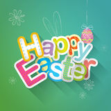 Happy Easter typographic background Stock Image