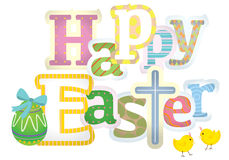 Happy Easter typographic background Stock Photo