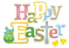 Happy Easter typographic background Stock Photo