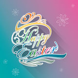 Happy Easter typographic background Royalty Free Stock Images