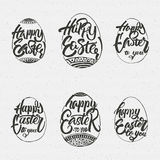 Happy easter - typographic calligraphic lettering Royalty Free Stock Photography