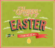 Happy Easter typographic design. Stock Images