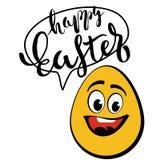 Happy Easter Typographic Phrase Royalty Free Stock Photo