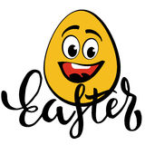 Happy Easter Typographic Phrase Royalty Free Stock Images