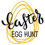 Happy Easter Typographic Phrase Stock Image