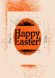 Happy Easter! Typographic stencil street art style grunge Easter greeting card. Retro vector illustration. Happy Easter! Typographic stencil street art style stock illustration