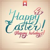 Happy Easter Typographical Background Royalty Free Stock Photo