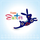 Happy Easter Typographical Background with easter bunny, easter Royalty Free Stock Image