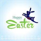 Happy Easter Typographical Background with easter bunny Royalty Free Stock Image