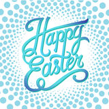 Happy easter typographical background, hand lettering, radial graphics poster Royalty Free Stock Photography