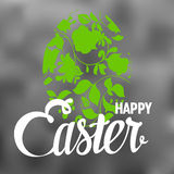 Happy Easter Typographical Background with ornate Royalty Free Stock Image