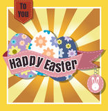 Happy Easter Typographical  Background vector format eps 10 Stock Photography