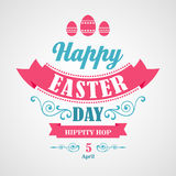 Happy Easter Typographical Background Stock Photography