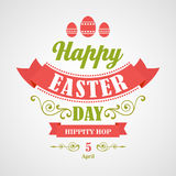 Happy Easter Typographical Background Stock Photo