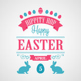 Happy Easter Typographical Background Stock Images