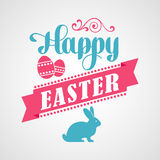 Happy Easter Typographical Background Stock Photos