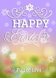 Happy Easter Typographical blur Background Stock Image
