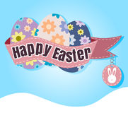 Happy Easter Typographical blur Background vector format eps 10 Stock Photo
