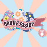 Happy Easter Typographical soft Background vector format eps 10 Royalty Free Stock Images