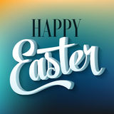 Happy easter typography on blur background Stock Photography