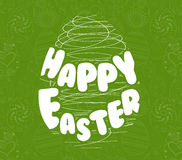 Happy Easter. Typography lettering Stock Photography