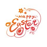 Happy Easter. Typography Lettering Design. Royalty Free Stock Image