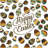 Happy Easter. Unique lettering poster. Royalty Free Stock Images