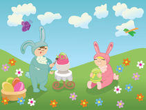 Happy Easter vector Royalty Free Stock Photography