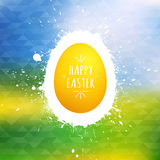 Happy Easter vector background. Happy Easter greeting card. Vector illustration Royalty Free Stock Photo