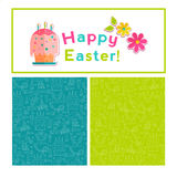 Happy Easter vector background. Royalty Free Stock Photos