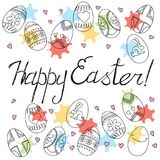 Happy Easter card. Vector background Royalty Free Stock Photos