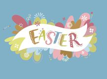 Happy easter - vector card Stock Images