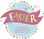 Happy easter - vector card Royalty Free Stock Photography
