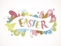 Happy easter - vector card Stock Image