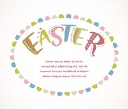 Happy easter - vector card Royalty Free Stock Photo