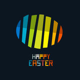 Happy Easter Vector Colorful Abstract Egg Symbol Stock Photo