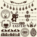 Happy Easter! Vector design elements. Stock Image