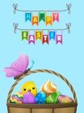 Happy Easter Vector Flyer or Concept Stock Photos