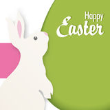 Happy Easter vector illustration with Bunny Stock Photo
