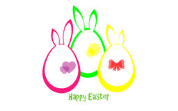 Happy Easter. Vector illustration. Easter card. Eggs Stock Image