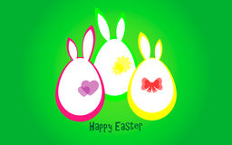 Happy Easter. Vector illustration. Easter card. Eggs Stock Photography