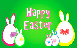 Happy Easter. Vector illustration. Easter card. Eggs Stock Photos