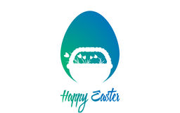 Happy Easter. Vector illustration. Easter card. Eggs Stock Photo