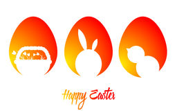 Happy Easter. Vector illustration. Easter card. Eggs Stock Images