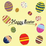 Happy easter vector illustrator illustration eggs concept Royalty Free Stock Image